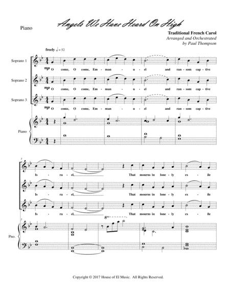 Angels We Have Heard on High - Soprano Trio