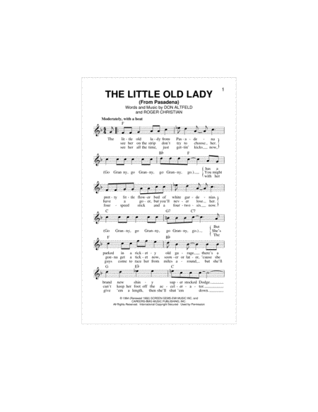 The Little Old Lady (From Pasadena)