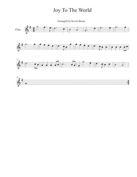 Joy To The World - Flute