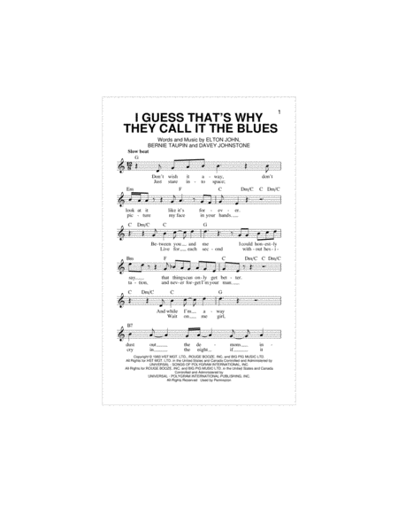 I Guess That's Why They Call It The Blues