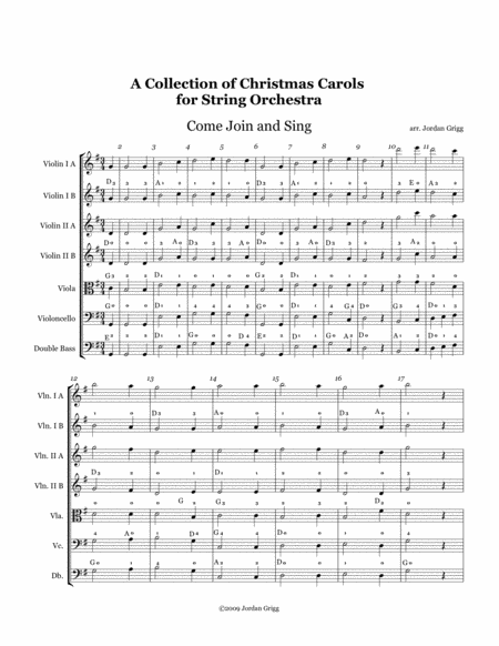 A Collection of Christmas Carols for String Orchestra