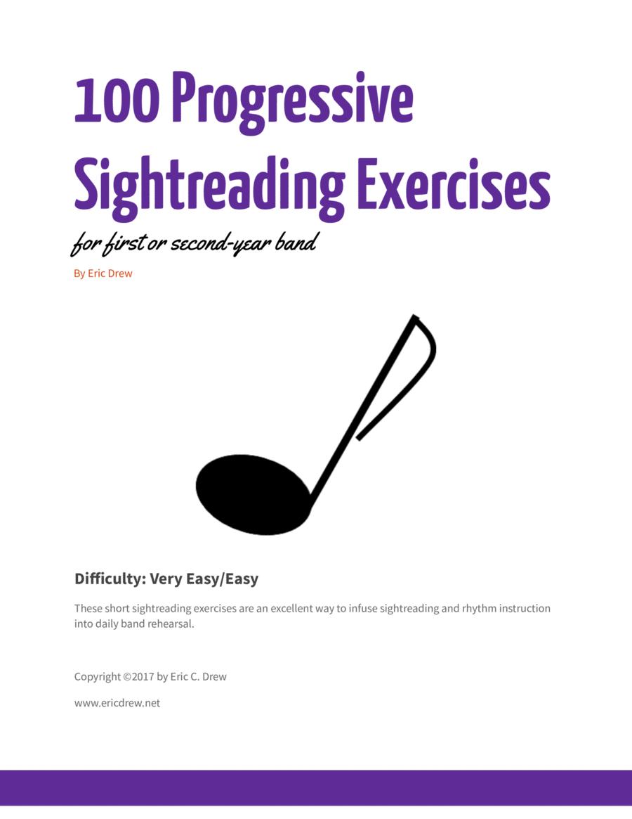 100 Progressive Sightreading Exercises for Band