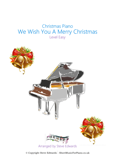 We Wish You A Merry Christmas - Solo Piano - Easy