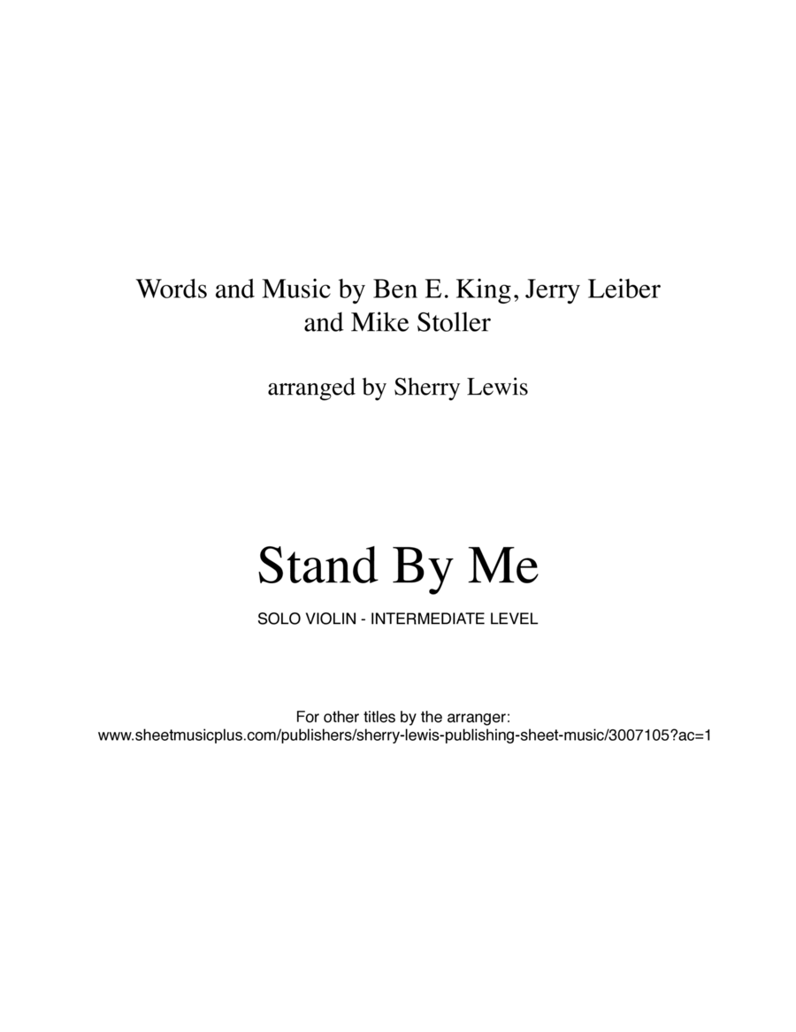 Stand By Me for VIOLIN SOLO