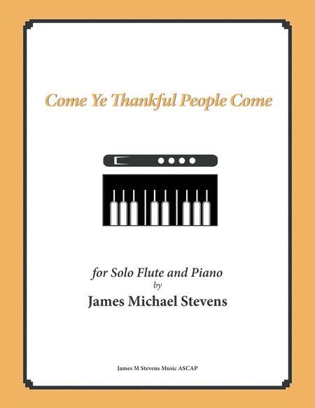 Come Ye Thankful People Come - Flute & Piano