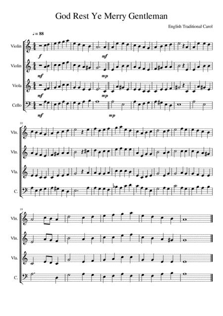 God Rest Ye Merry Gentleman - String Quartet