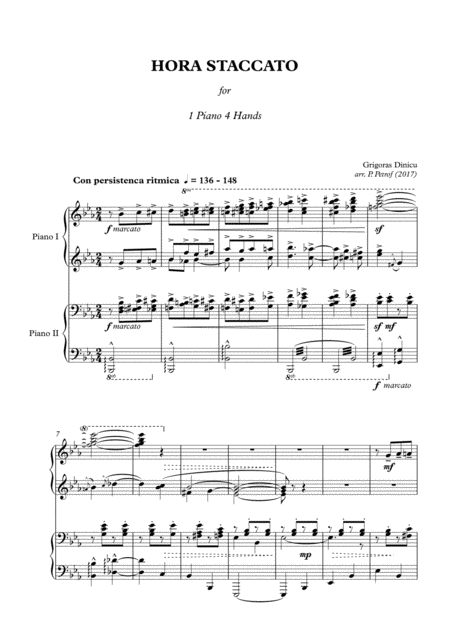 G. Dinicu - HORA STACCATO - 1 piano 4 hands