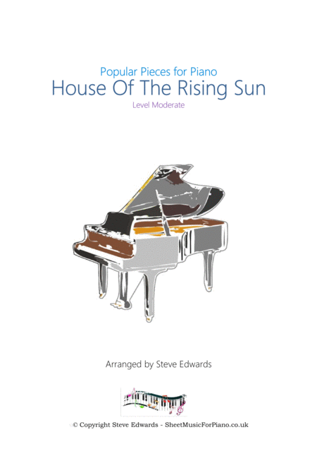 House Of The Rising Sun - Piano Solo - Moderate