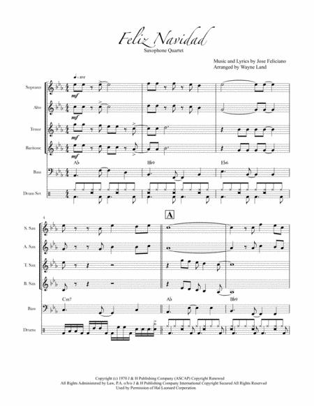 Feliz Navidad (Sax Quartet)