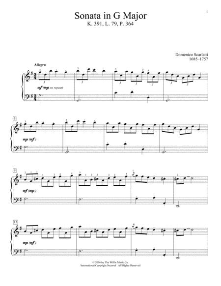 Sonata In G Major, K. 391, L. 79, P. 364