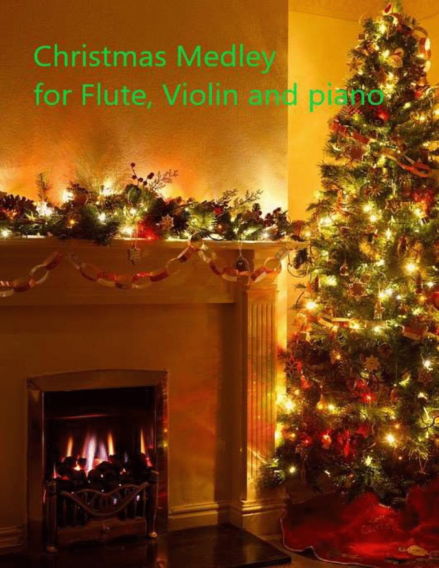 Christmas Medley for Flute, Violin and Easy Piano Classics