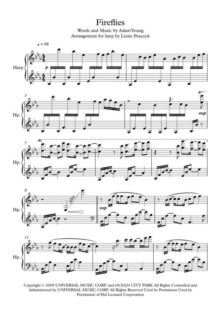 Fireflies - Pedal Harp Solo