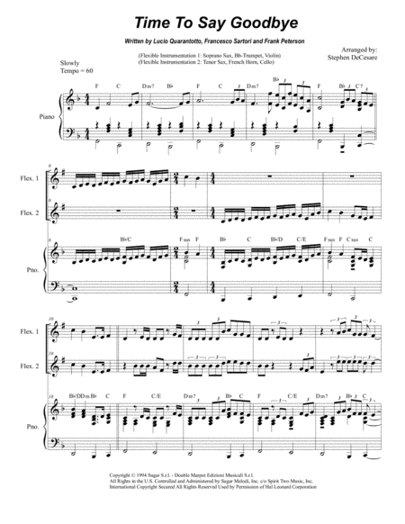 Time To Say Goodbye (Duet for Flexible Instrumentation)