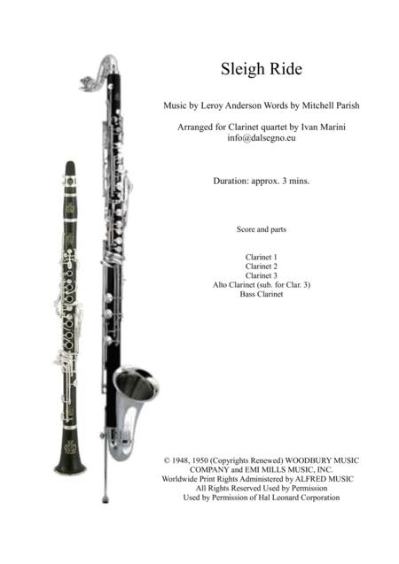 Sleigh Ride - Clarinet Quartet