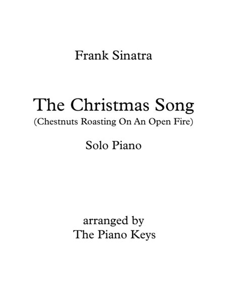 The Christmas Song (Chestnuts Roasting On An Open Fire) Solo Piano