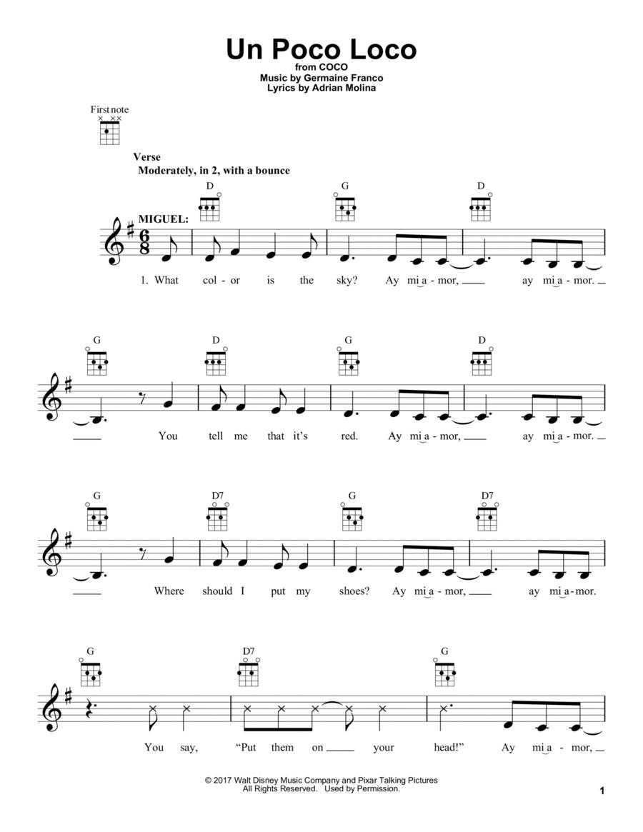 partition guitare un poco loco