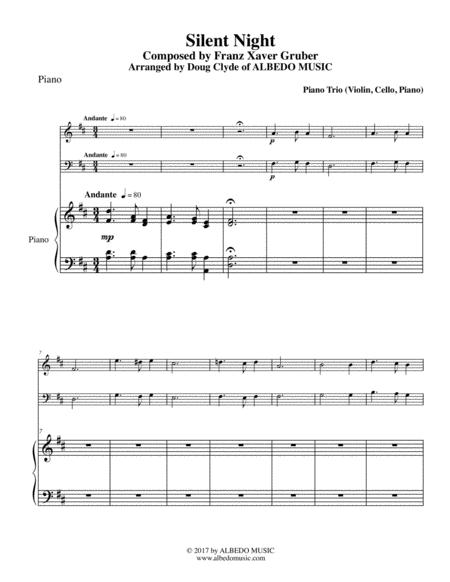 Silent Night for Piano Trio