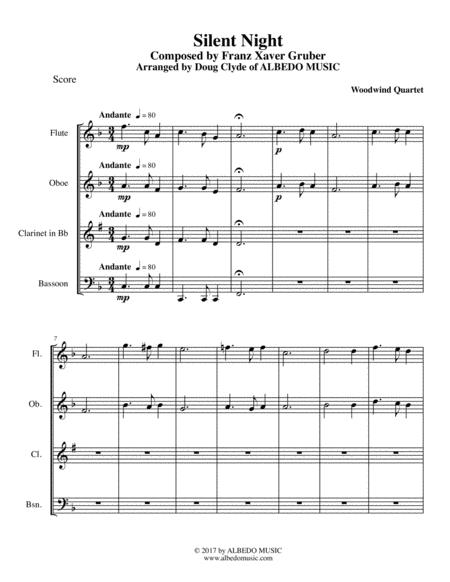Silent Night for Woodwind Quartet