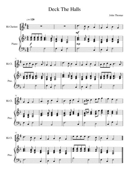 Deck The Halls - Clarinet