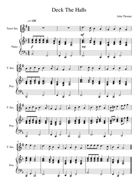 Deck The Halls - Tenor Saxophone