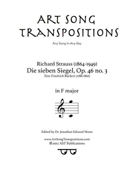 Die sieben Siegel, Op. 46 no. 3 (F major)