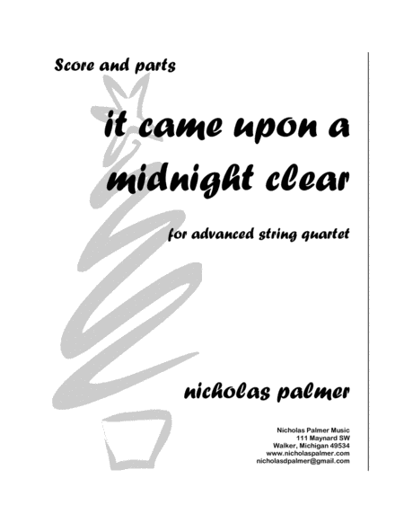 It came upon a midnight clear -  A Christmas Nocturne