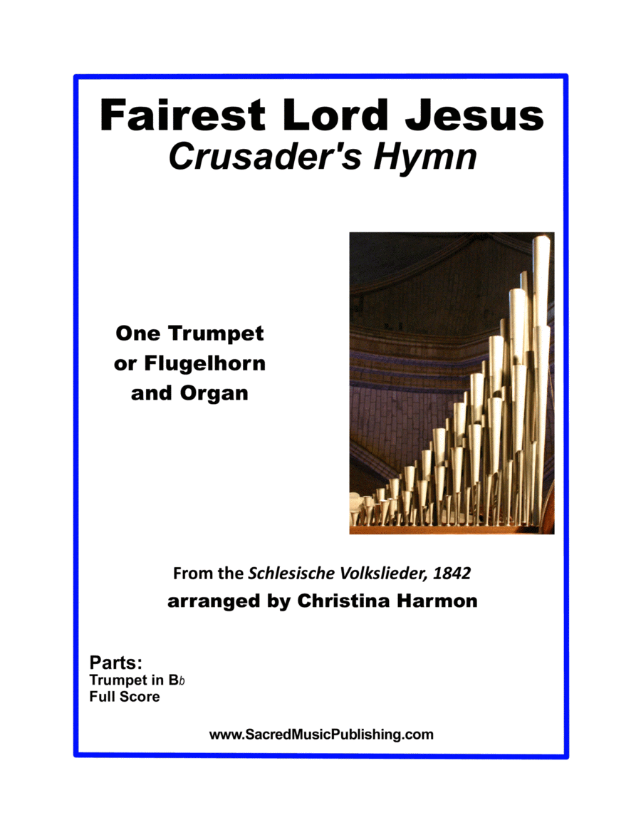 Fairest Lord Jesus –  One Trumpet and Organ
