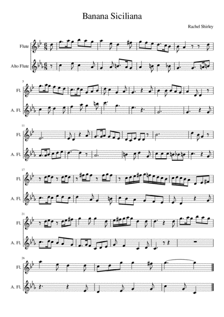 Banana Siciliana (flute and alto flute)
