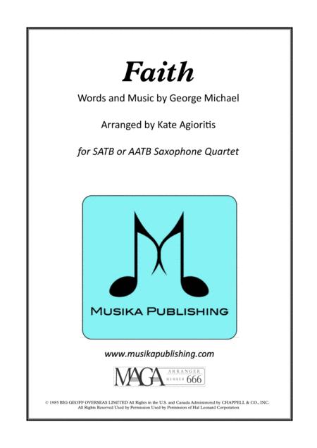 Faith (George Michael) - for Saxophone Quartet