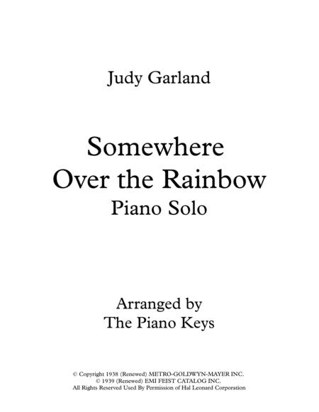 Somewhere Over the Rainbow Piano Solo