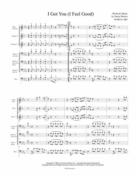 I GOT YOU (I FEEL GOOD) - James Brown (for pep band, basketball band, jazz combo, small jazz ensemble)