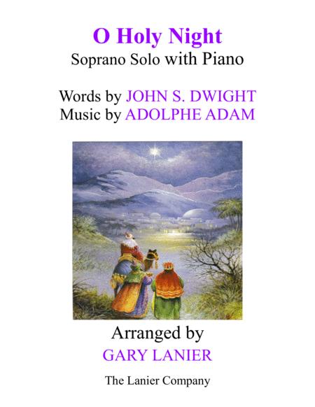 O HOLY NIGHT (Soprano Solo with Piano - Score & Soprano Part included)