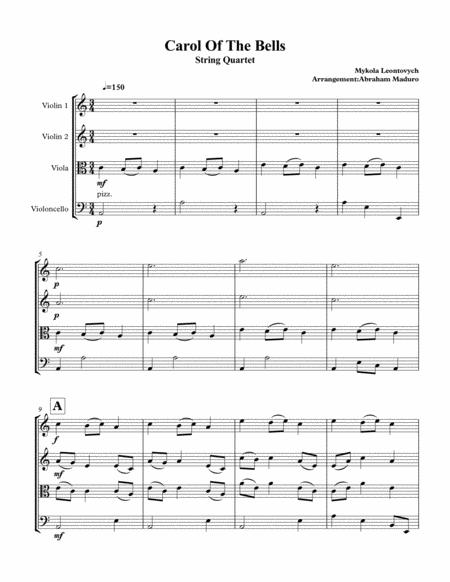 Carol of the Bells String Quartet