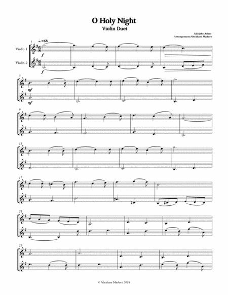 O holy Night String Duet