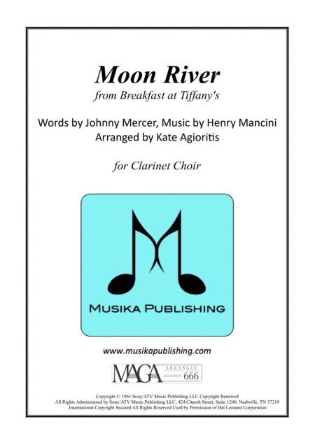 Moon River - for Clarinet Choir