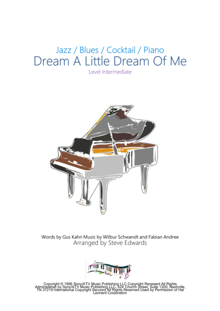 Dream A Little Dream Of Me - Intermediate Piano Solo