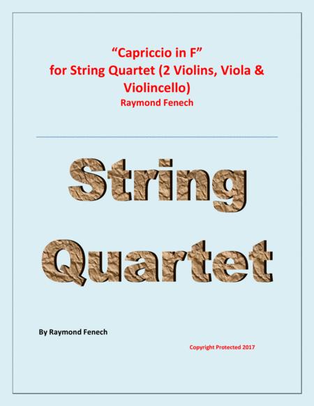 Capriccio in F - For String Quartet (2 Violins; Viola; Violoncello)