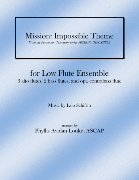 Mission: Impossible Theme for LOW FLUTE ENSEMBLE