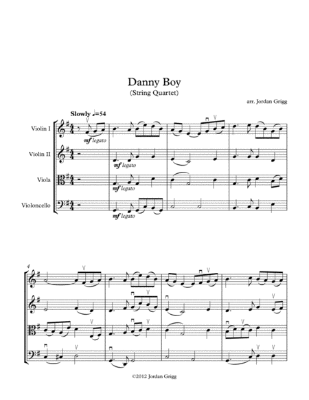 Danny Boy (String Quartet)