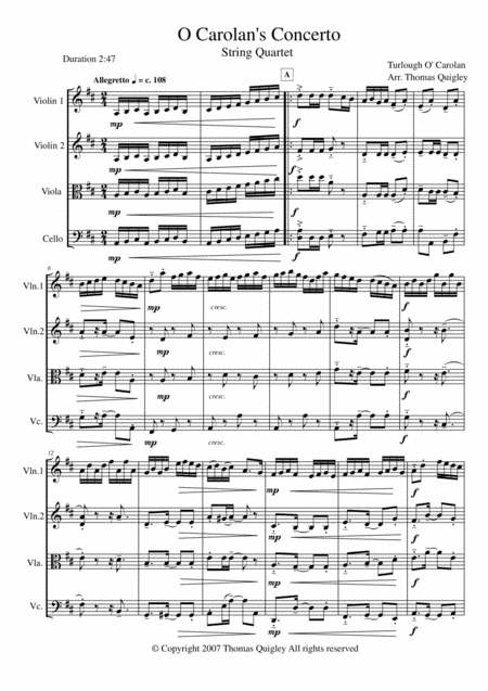 O Carolan's Concerto