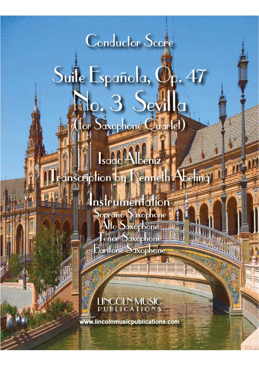 "Albéniz - ""Sevilla"" from Suite Española (for Saxophone Quartet SATB)"