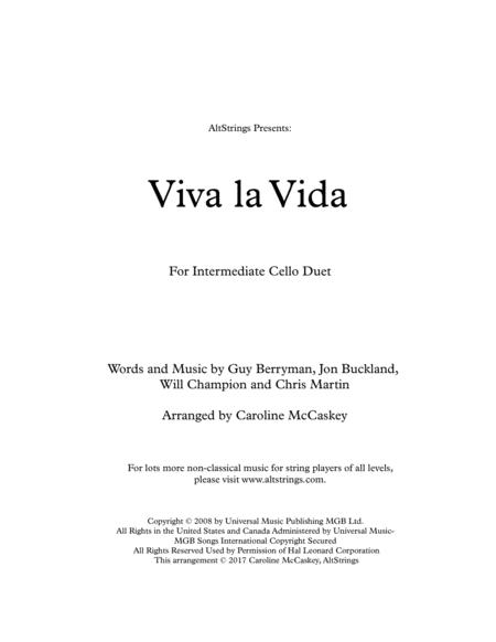 Viva La Vida - Cello Duet