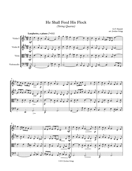 He Shall Feed His Flock (String Quartet)
