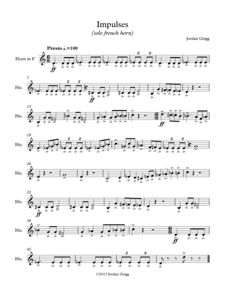 Impulses (solo french horn)