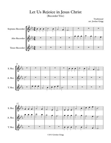 Let Us Rejoice in Jesus Christ (Recorder Trio)