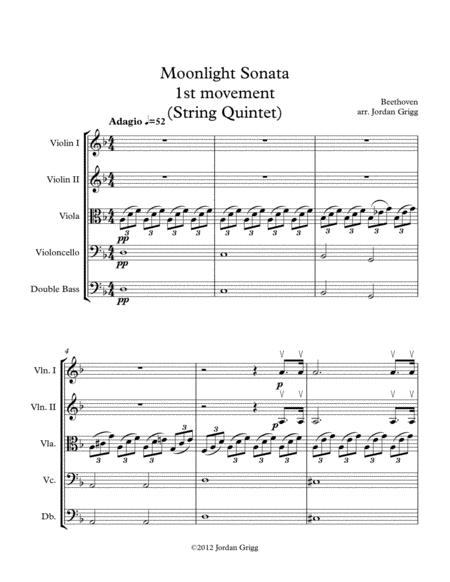 Moonlight Sonata (String Quintet-1st Movement)