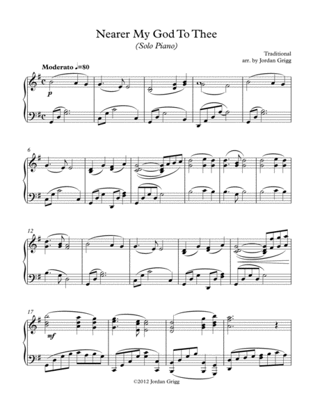Nearer My God To Thee (solo piano)