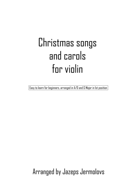 Best Christmas songs and carols for violin