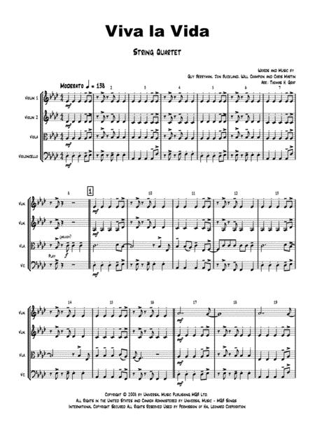 Viva la Vida - Cold Play - String Quartet