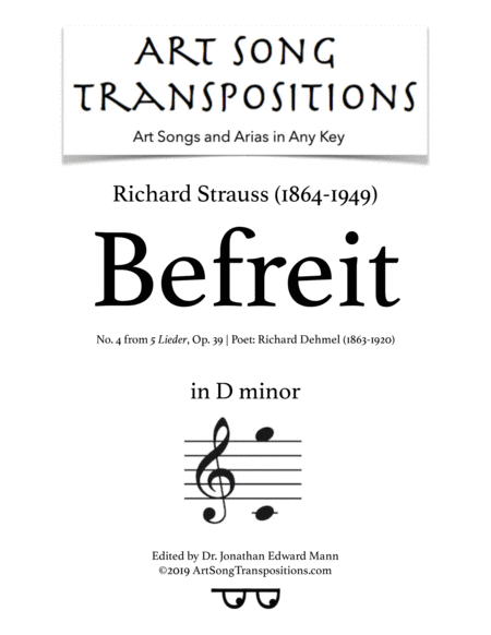 Befreit, Op. 39 no. 4 (D minor)